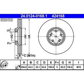 Disco freno 24.0124-0168.1 con un ottimo rapporto ATE qualità/prezzo