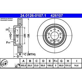 Disco freno ATE 24.0126-0107.1 comprare e sostituisci