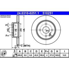 Disco freno 24.0310-0251.1 con un ottimo rapporto ATE qualità/prezzo