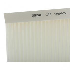 CU2545 Filtro, ar do habitáculo MANN-FILTER Enorme selecção - fortemente reduzidos