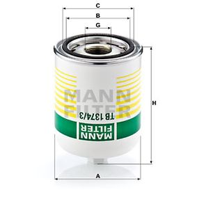 Compre MANN-FILTER Cartucho de secador de ar, sistema de ar comprimido TB 1374/3 x
