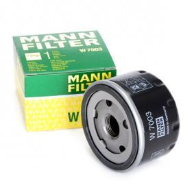 Filtre à huile W 7003 MANN-FILTER Paiement sécurisé — seulement des pièces neuves