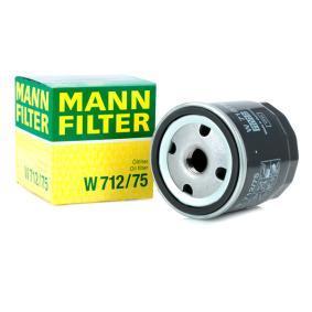 Pērc MANN-FILTER Eļļas filtrs W 712/75 jebkurā laikā