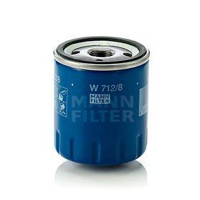 Compre e substitua Filtro de óleo MANN-FILTER W 712/8