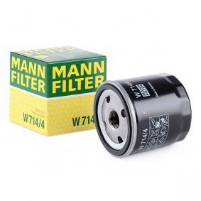 Filtro olio MANN-FILTER W 714/4 comprare e sostituisci