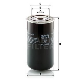 Bestil WD 950/5 MANN-FILTER Filter, arbejdshydraulik nu