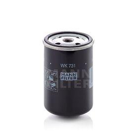 palivovy filtr WK 731 MANN-FILTER Zabezpečená platba – jenom nové autodíly
