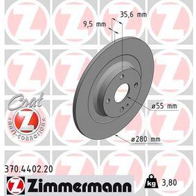 Bremsscheibe von ZIMMERMANN - Artikelnummer: 370.4402.20
