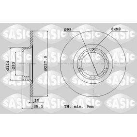 Disco de travão 4004240J SASIC Pagamento seguro — apenas peças novas