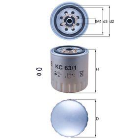 MAHLE ORIGINAL Fuel filter KC 63/1D cheap