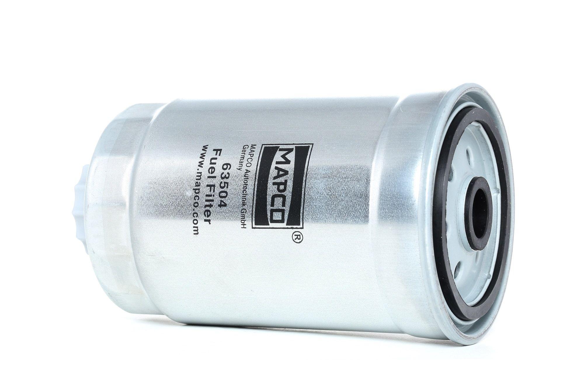 Palivový filtr 63504 s vynikajícím poměrem mezi cenou a MAPCO kvalitou