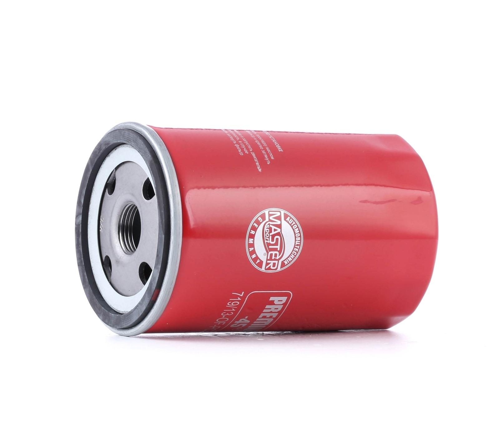 440719130 MASTER-SPORT Cartucho filtrante, com duas válvulas de retenção Diâmetro interior 2: 62mm, Diâmetro interior 2: 62mm, Ø: 76mm, Diâmetro exterior 2: 71mm, Altura: 123mm Filtro de óleo 719/13-OF-PCS-MS comprar económica