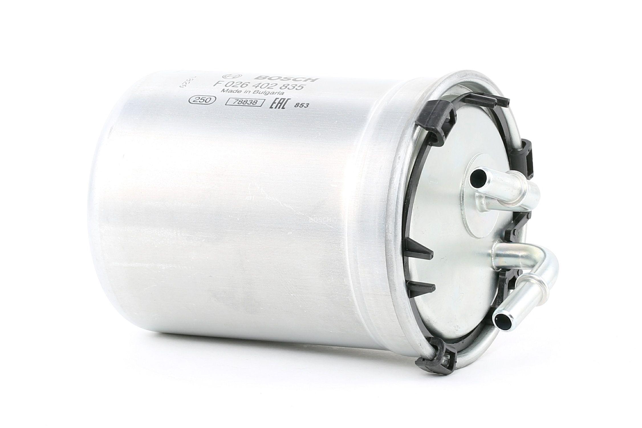 Palivový filtr F 026 402 835 s vynikajícím poměrem mezi cenou a BOSCH kvalitou