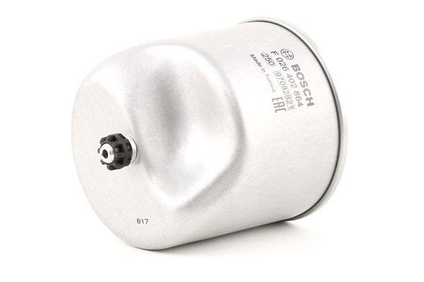Brændstoffilter F 026 402 864 med et enestående BOSCH pris-ydelses-forhold