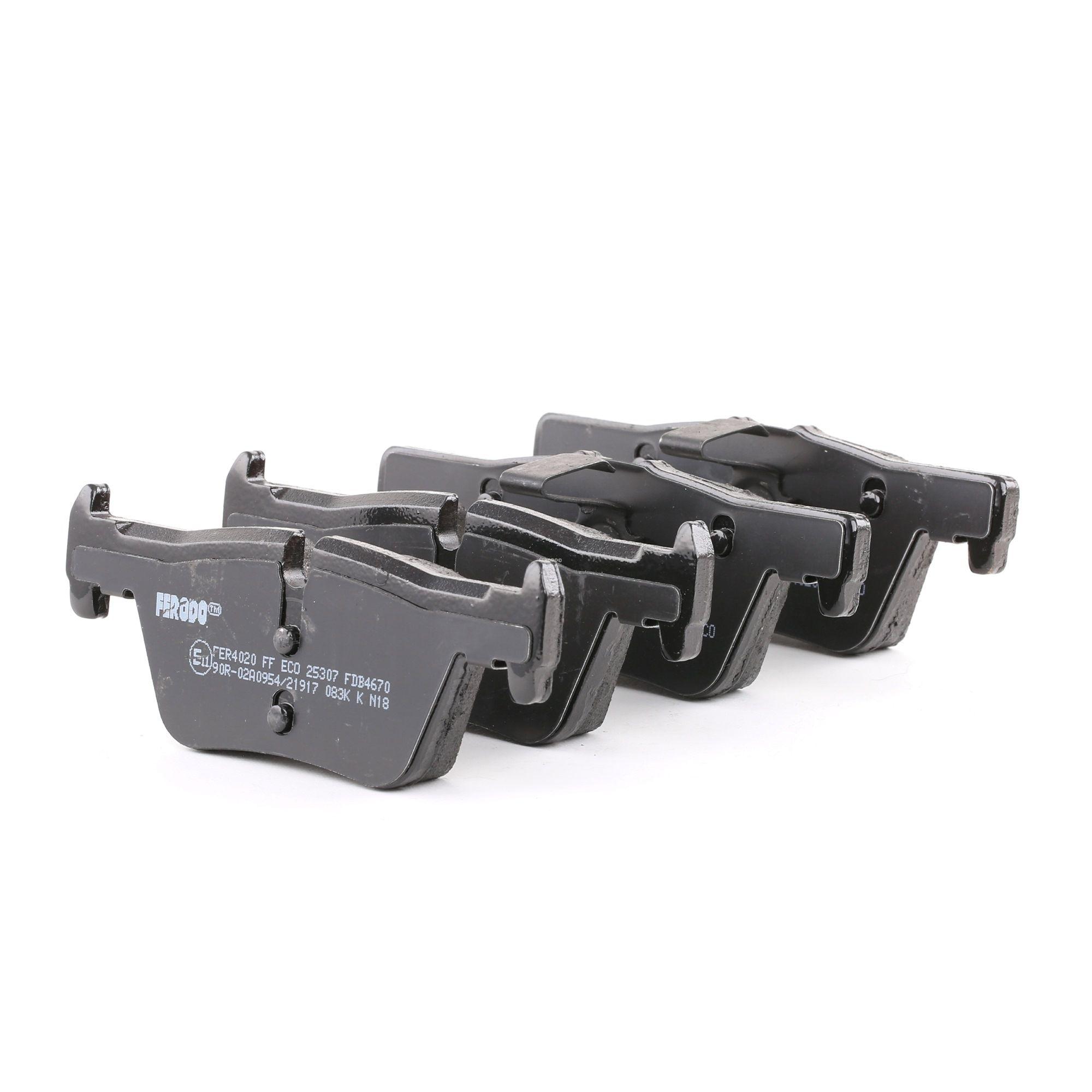 8826D1613 FERODO PREMIER ECO FRICTION, für Verschleißwarnanzeiger vorbereitet Höhe 1: 45mm, Dicke/Stärke: 17,3mm Bremsbelagsatz, Scheibenbremse FDB4670 günstig kaufen