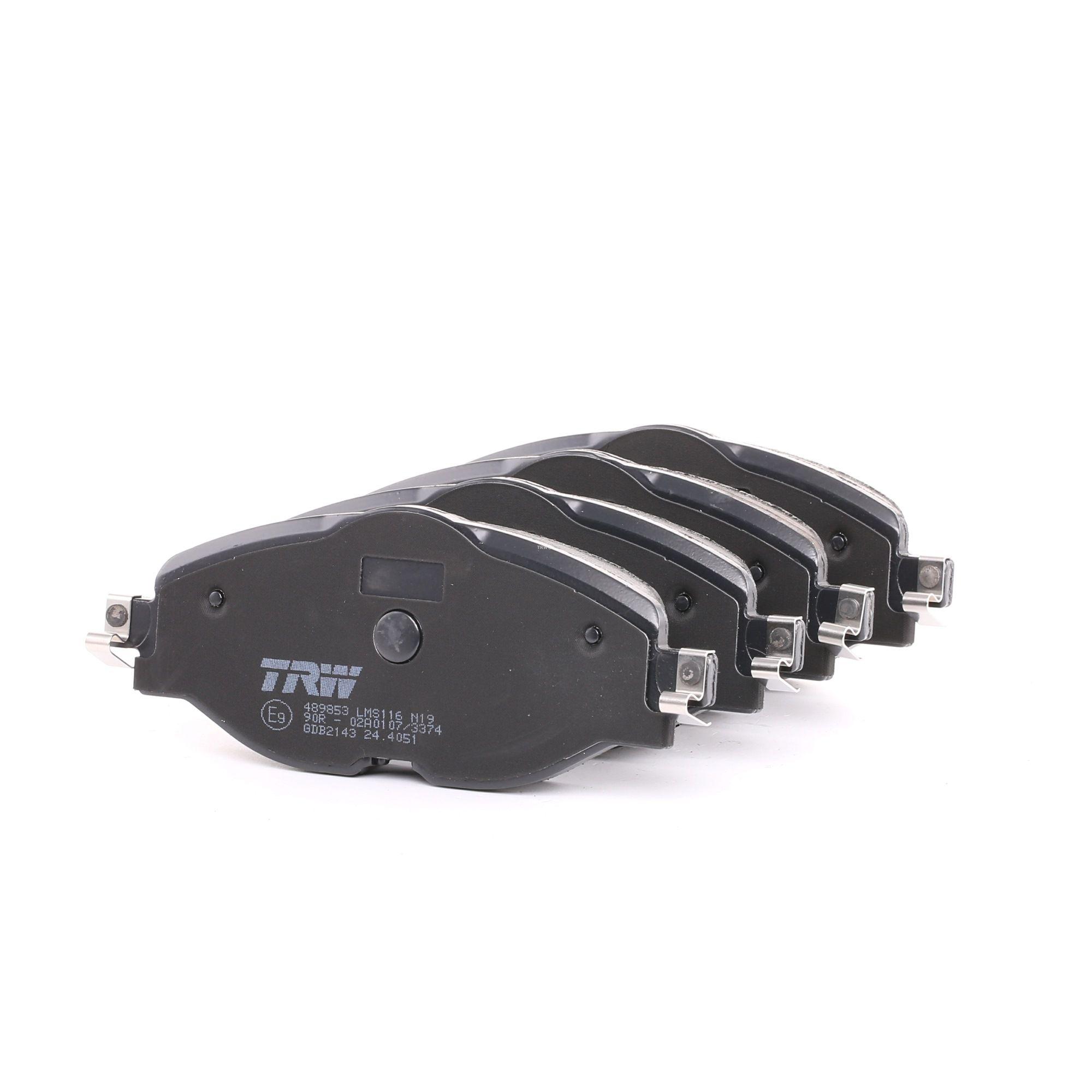 Bremsbelagsatz Passat 3g5 hinten + vorne 2014 - TRW GDB2143 (Höhe: 64,5mm, Dicke/Stärke: 20,4mm)