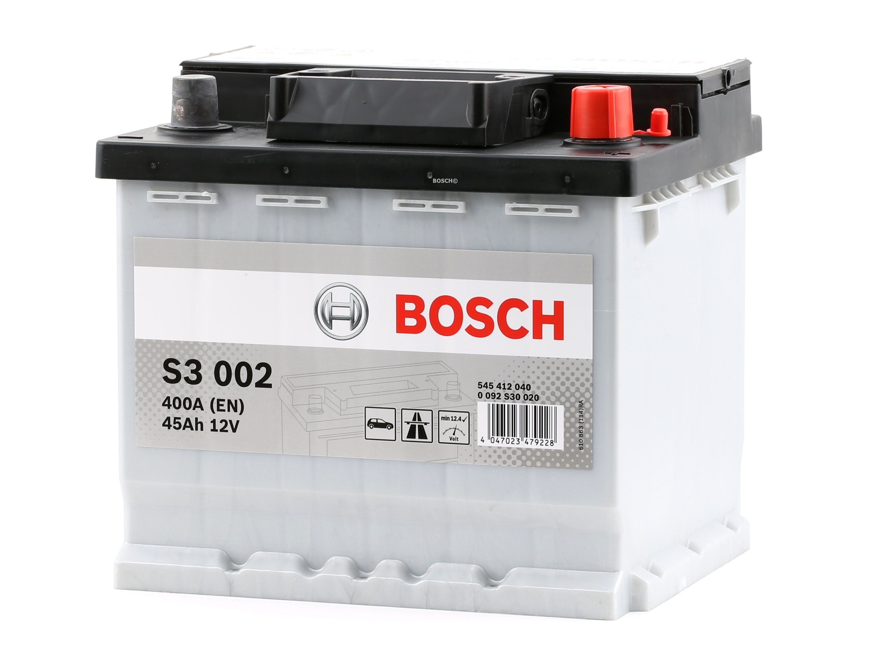BOSCH: Original Starterbatterie 0 092 S30 020 (Kälteprüfstrom EN: 400A, Spannung: 12V)
