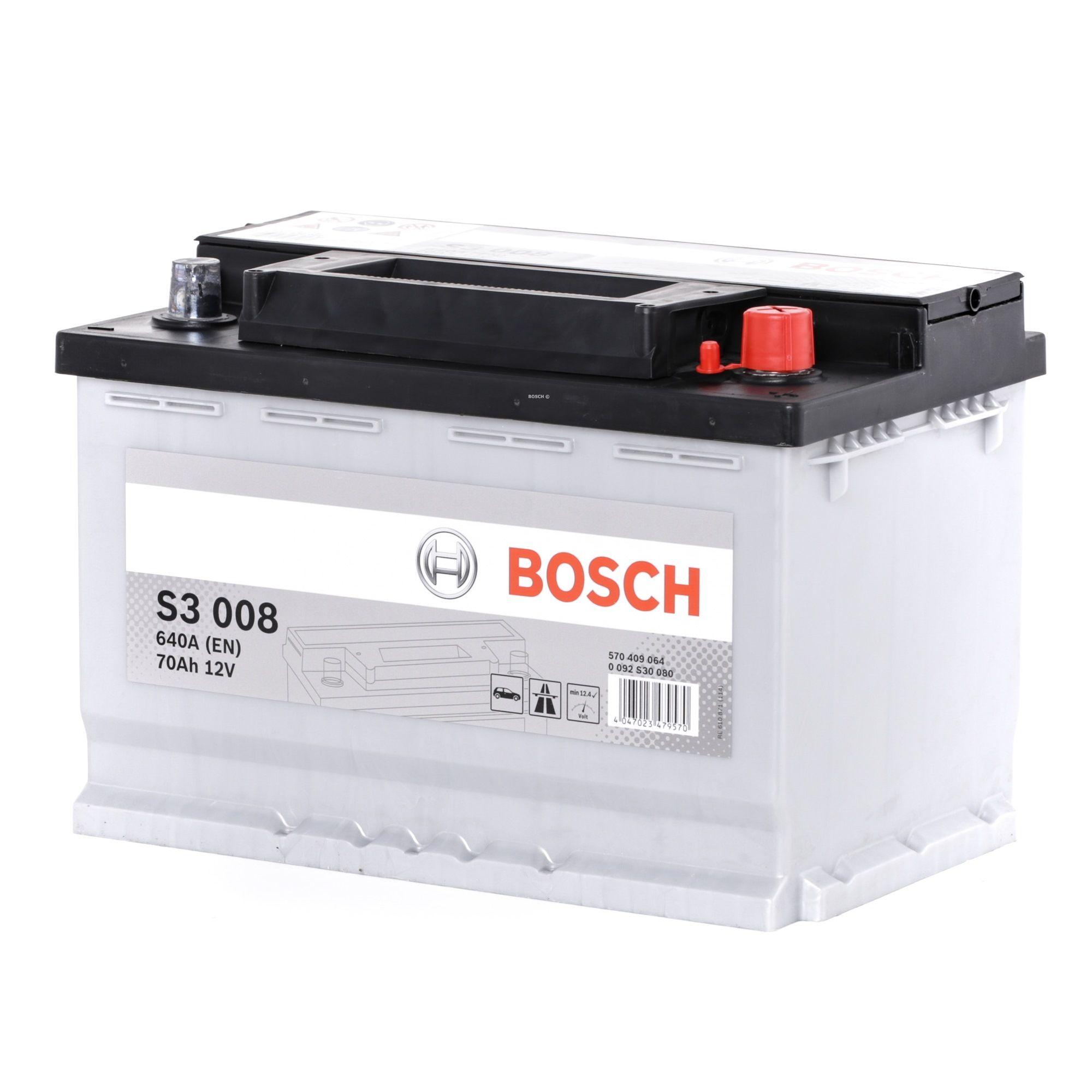 NISSAN TRADE 1995 Kfz-Elektroniksysteme - Original BOSCH 0 092 S30 080 Kälteprüfstrom EN: 640A, Spannung: 12V, Polanordnung: 0