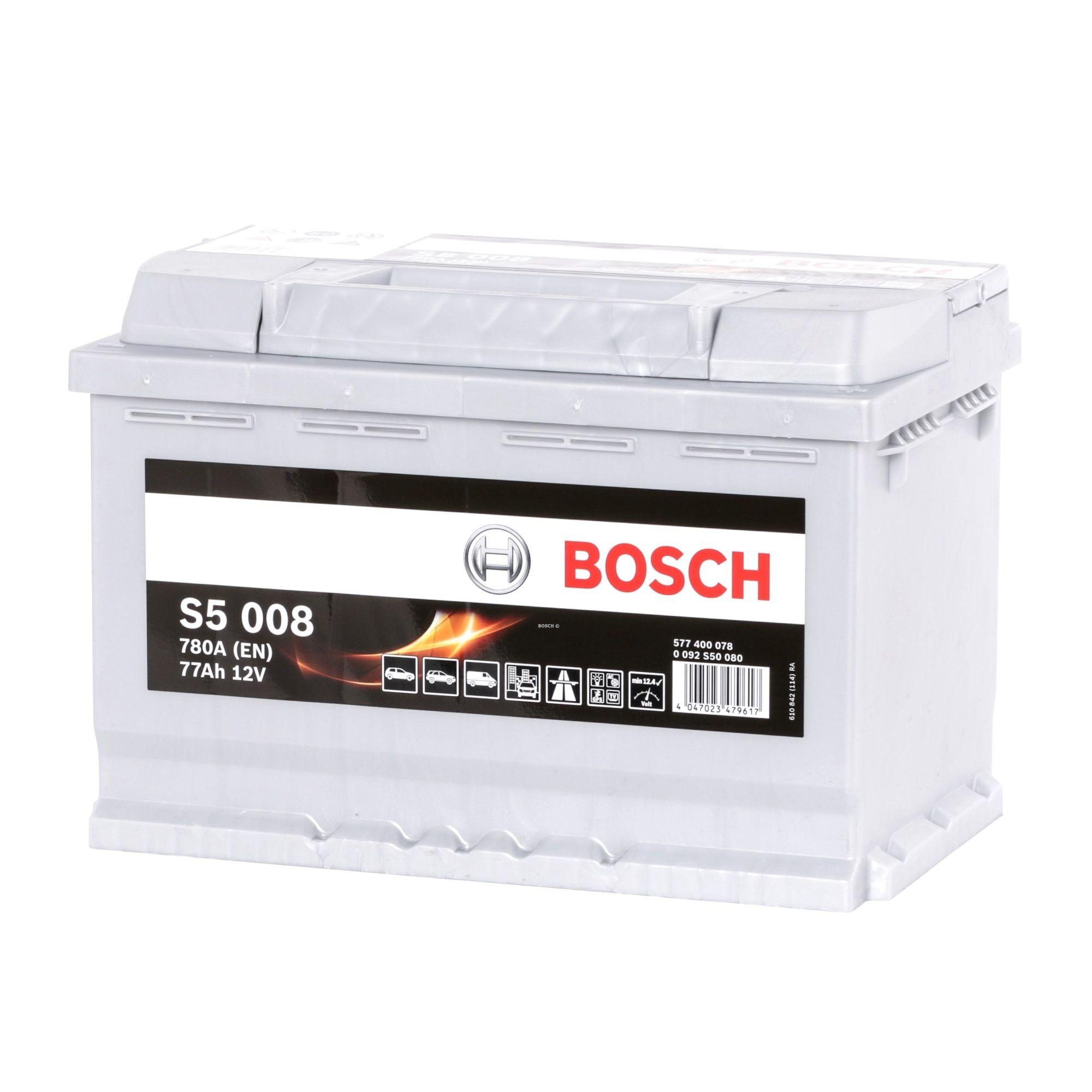 BOSCH: Original Akku 0 092 S50 080 (Kälteprüfstrom EN: 780A, Spannung: 12V, Polanordnung: 0)