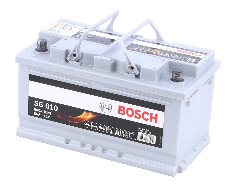 S5010 BOSCH S5 Batterie-Kapazität: 85Ah Kälteprüfstrom EN: 800A, Spannung: 12V, Polanordnung: 0 Starterbatterie 0 092 S50 100 günstig kaufen