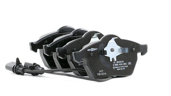 bosch kit de plaquettes de frein frein disque essieu avant article 0 986 424 482 achetez. Black Bedroom Furniture Sets. Home Design Ideas