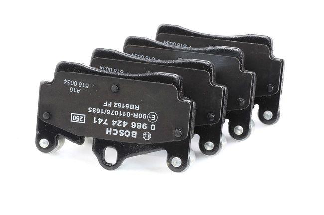 Original Brake pad set disc brake 0 986 424 741 Porsche