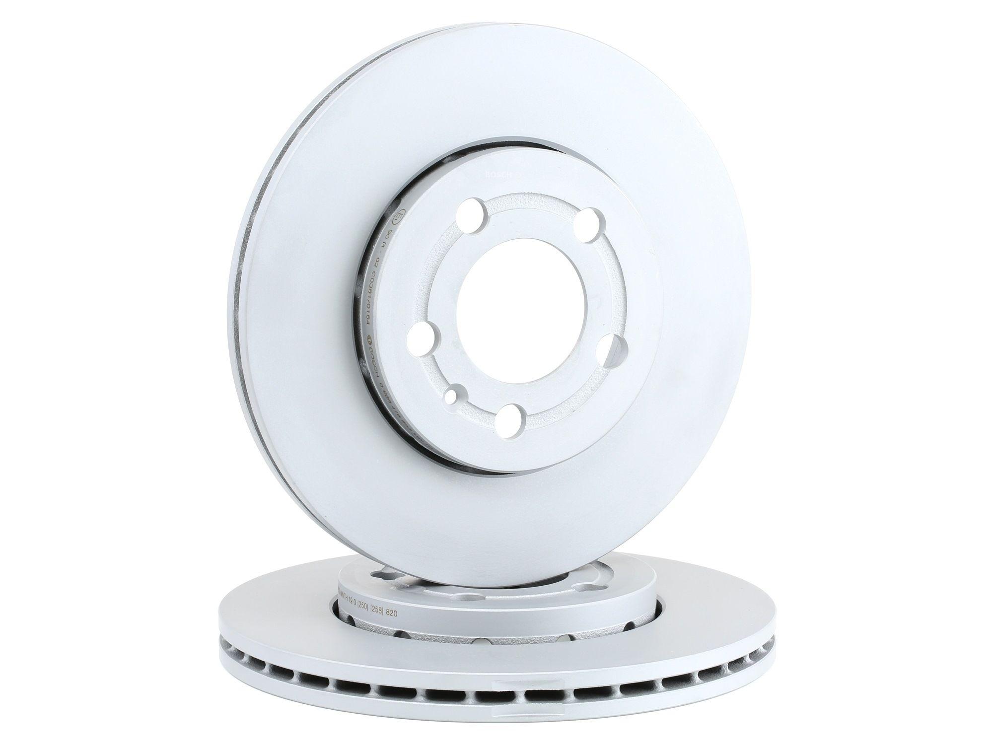 BOSCH 0 986 478 853 (Ø: 256mm, Nbre de trous: 5, Épaisseur du disque de frein: 22mm) : Disque VW Polo 9n Berline 2003