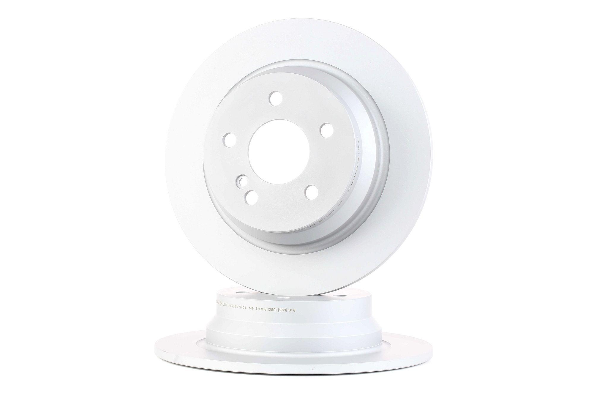 E490R02C07863265 BOSCH Voll, beschichtet, mit Schrauben Ø: 300mm, Lochanzahl: 5, Bremsscheibendicke: 10mm Bremsscheibe 0 986 479 041 günstig kaufen