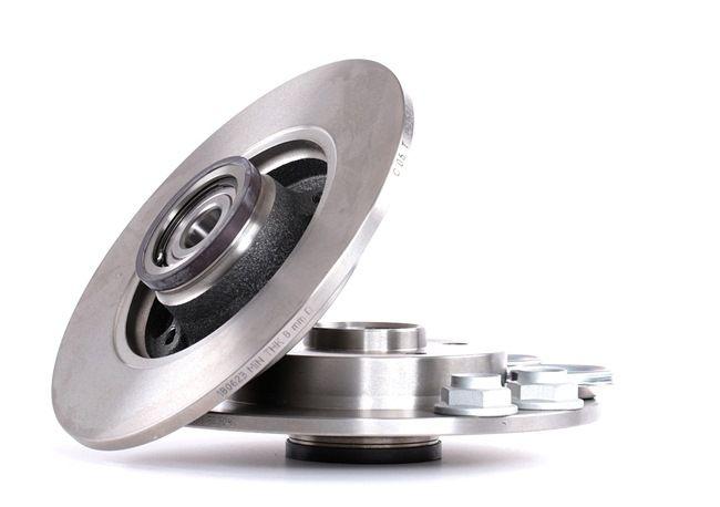 E190R02C03100032 BOSCH Voll, geölt, mit Radlager, mit ABS-Sensorring Ø: 249mm, Lochanzahl: 4, Bremsscheibendicke: 9mm Bremsscheibe 0 986 479 279 günstig kaufen