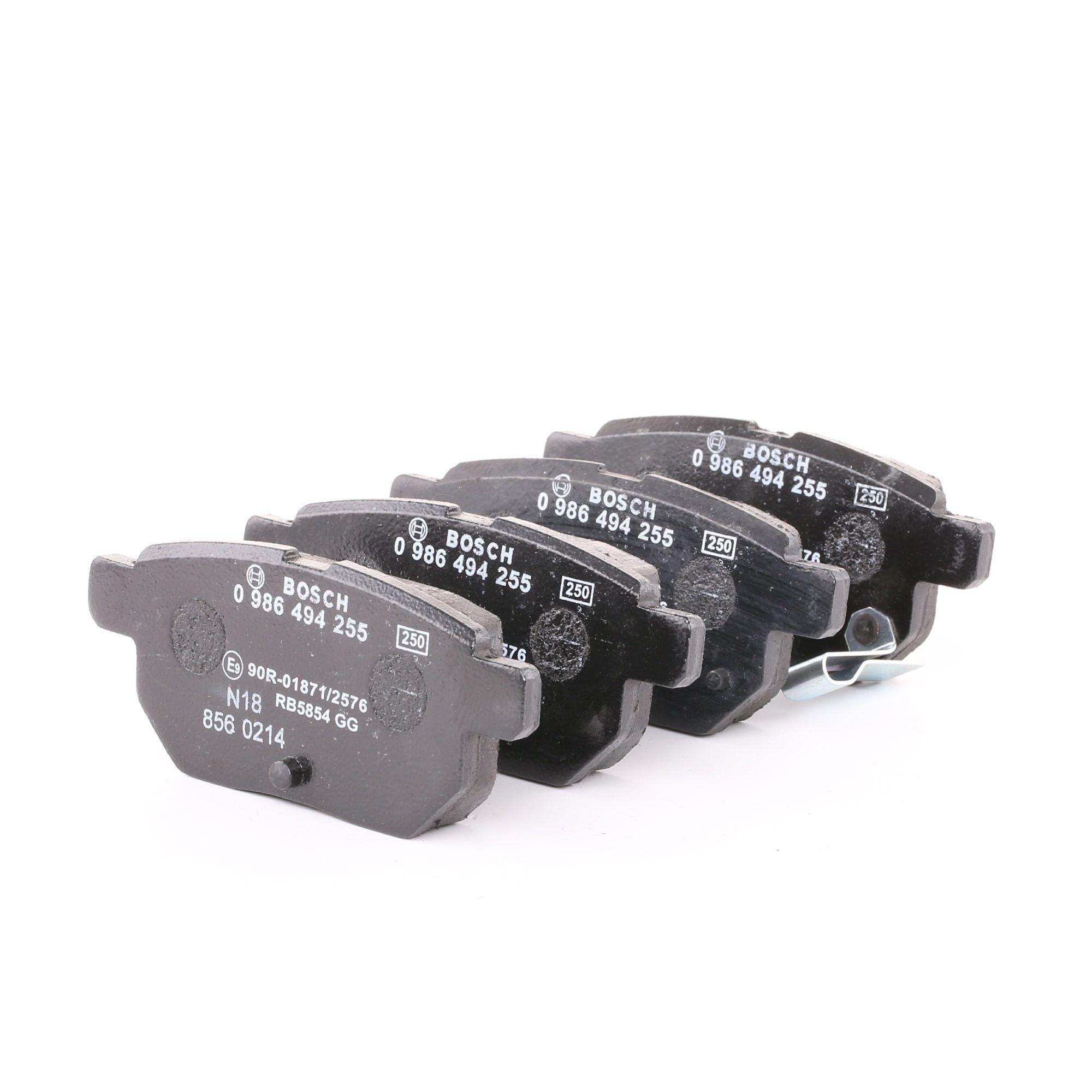 BOSCH: Original Bremsklötze 0 986 494 255 (Höhe: 42,4mm, Breite: 98,8mm, Dicke/Stärke: 14,3mm)