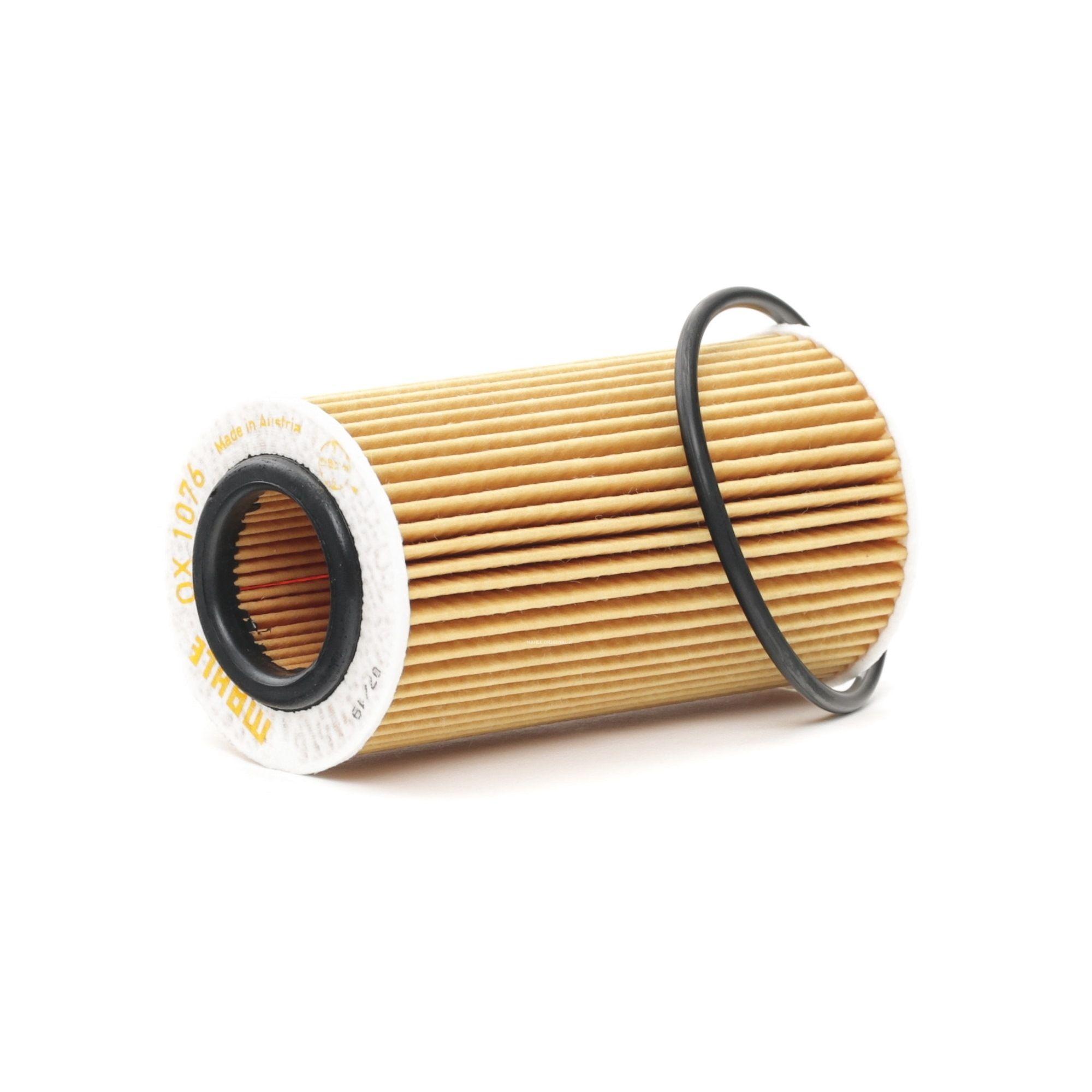 72386216 MAHLE ORIGINAL Filtereinsatz Innendurchmesser 2: 32mm, Ø: 63,5mm, Ø: 63,5mm, Höhe: 123mm, Höhe 1: 119mm Ölfilter OX 1076D günstig kaufen