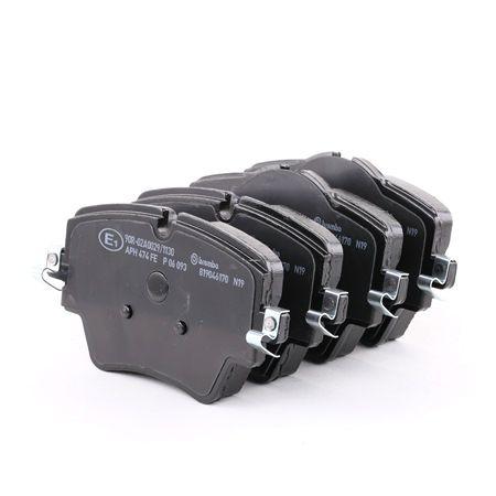 BREMBO: Original Bremsbelagsatz P 06 093 (Höhe 1: 70,1mm, Höhe 2: 74,6mm, Breite: 129mm, Dicke/Stärke: 18,6mm)
