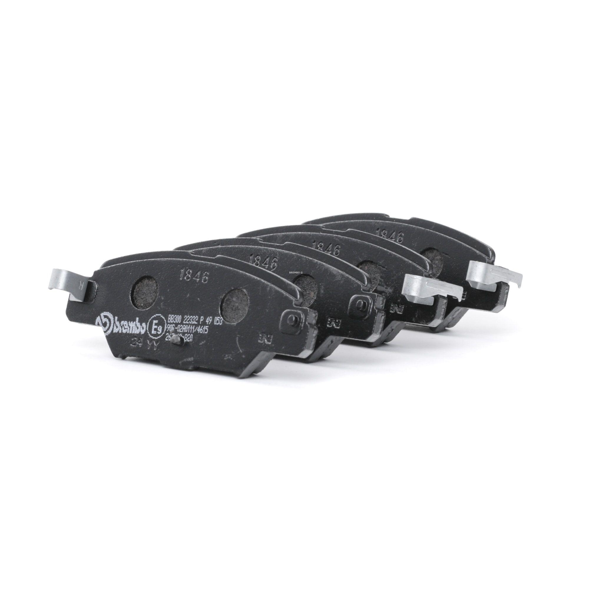D18469073 BREMBO mit akustischer Verschleißwarnung Höhe: 42,6mm, Breite: 112,35mm, Dicke/Stärke: 14,3mm Bremsbelagsatz, Scheibenbremse P 49 053 günstig kaufen