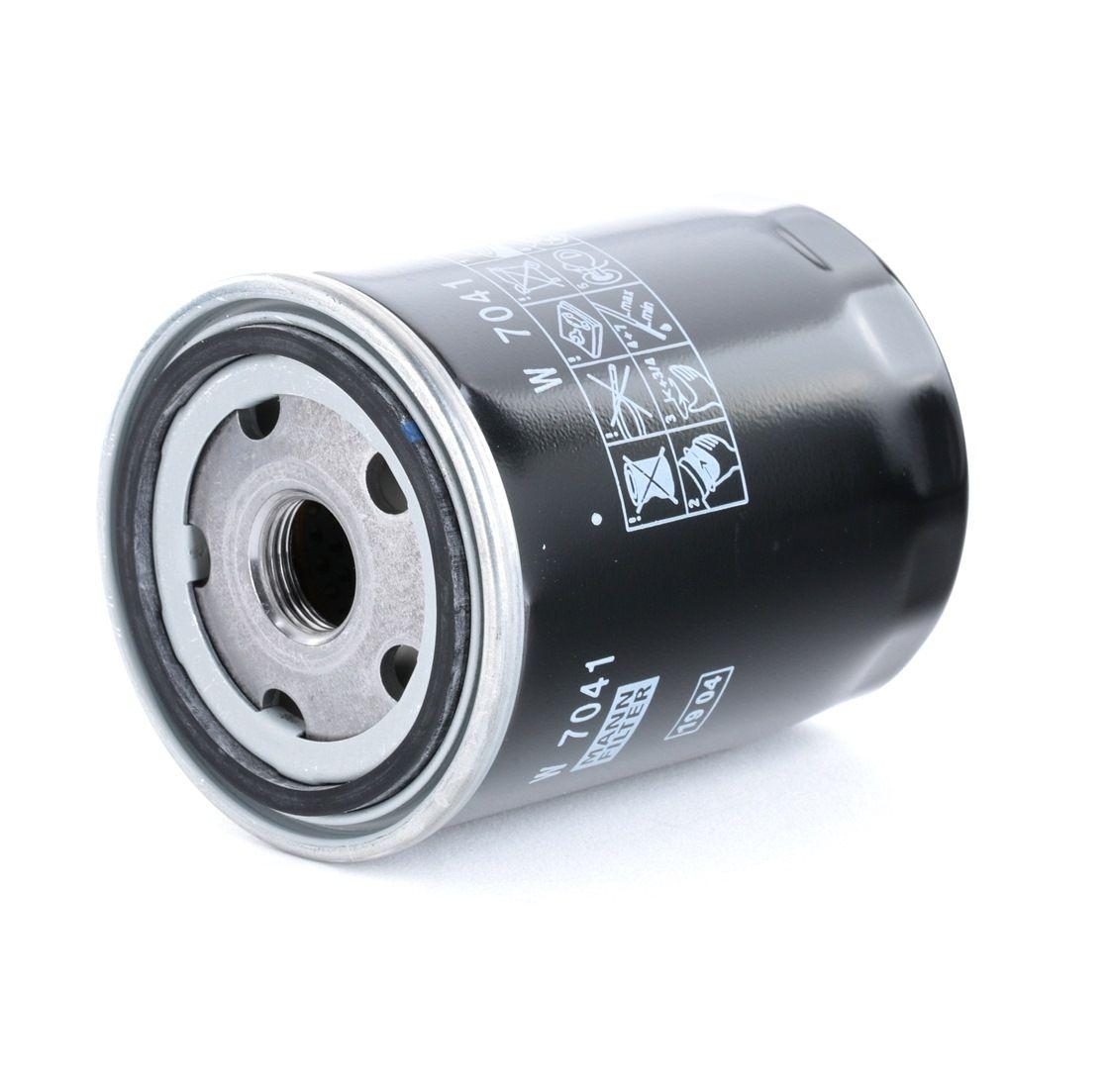 MANN-FILTER: Original Ölfilter W 7041 (Innendurchmesser 2: 57mm, Innendurchmesser 2: 57mm, Ø: 78mm, Außendurchmesser 2: 65mm, Höhe: 100mm)
