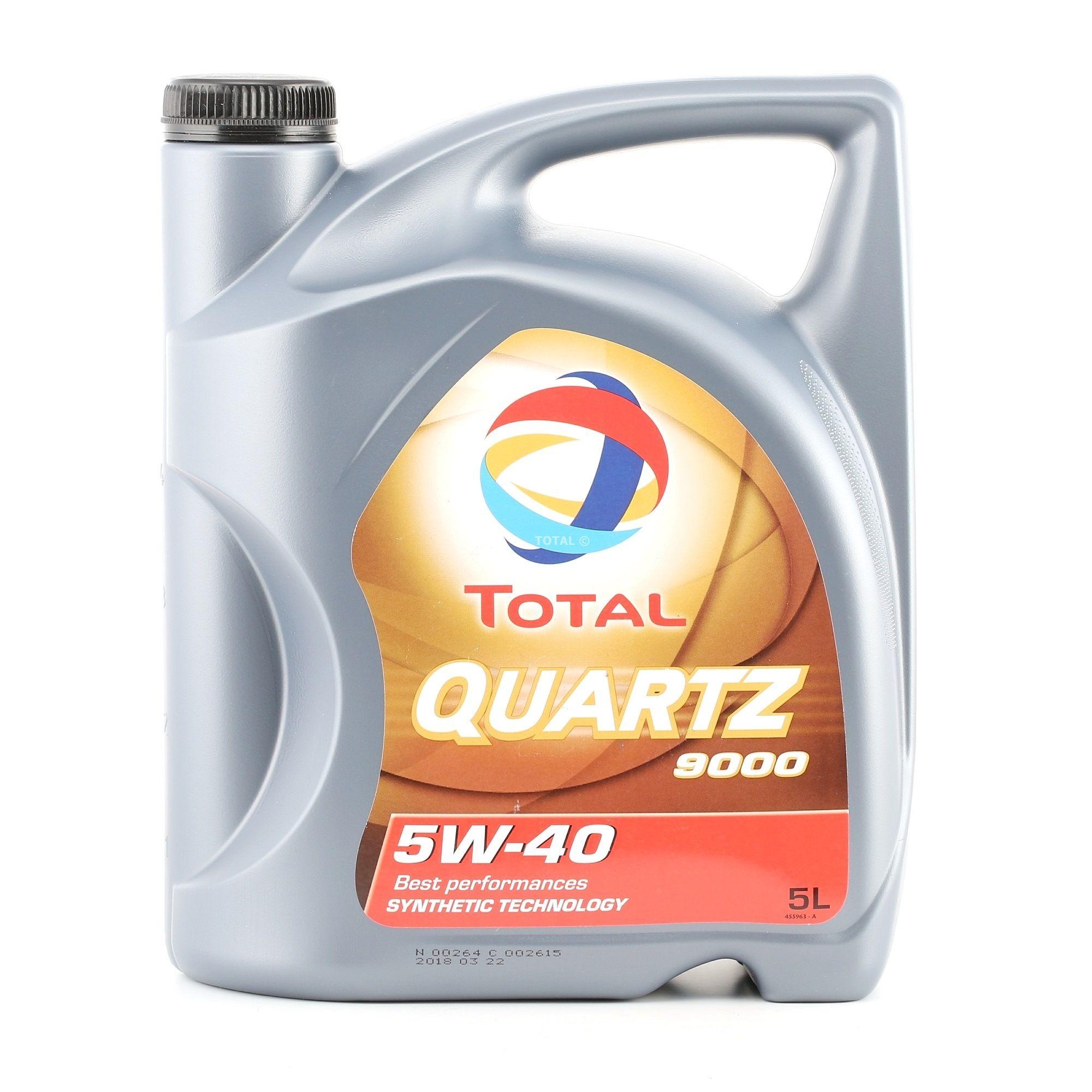 Achat de 201510301041 TOTAL Quartz, 9000 5W-40, 5I, Huile synthétique Huile moteur 2198275 pas chères