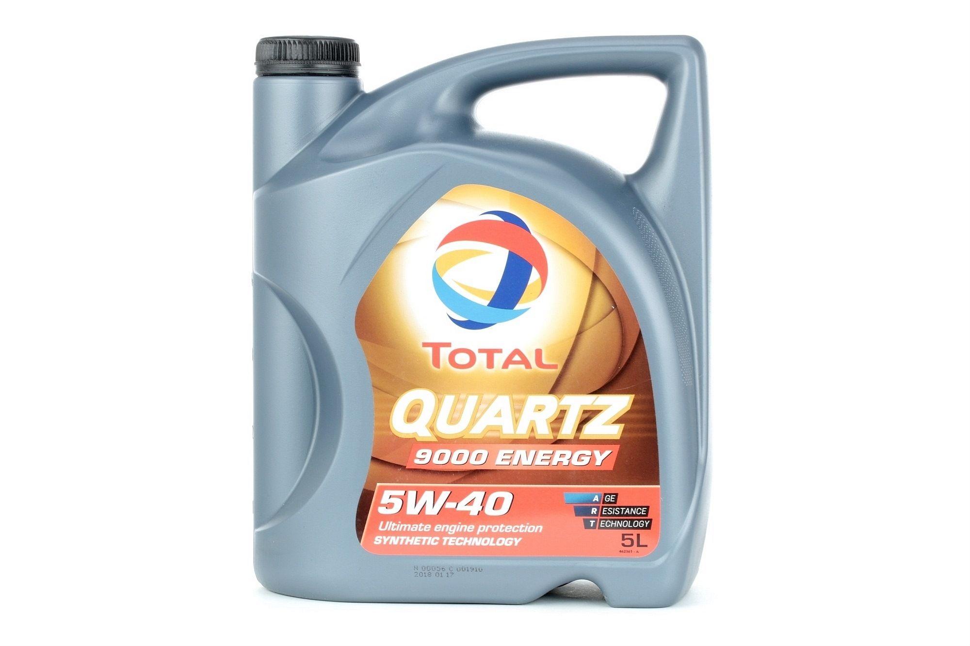 2198206 TOTAL Quartz, 9000 Energy 5W-40, 5L, Aceite sintetico Aceite de motor 2198206 a buen precio