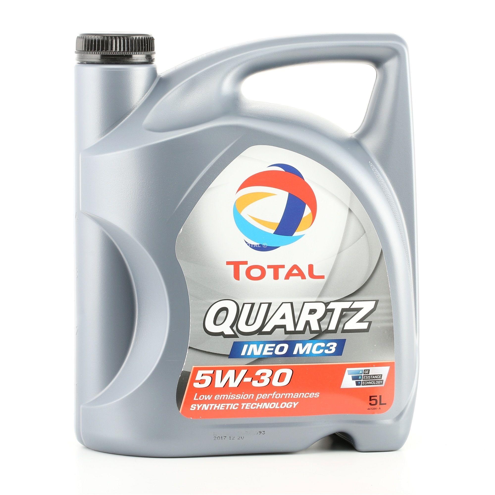 Achat de 0501CA224CJ1468548 TOTAL Quartz, INEO MC3 5W-30, 5I, Huile synthétique Huile moteur 2204221 pas chères