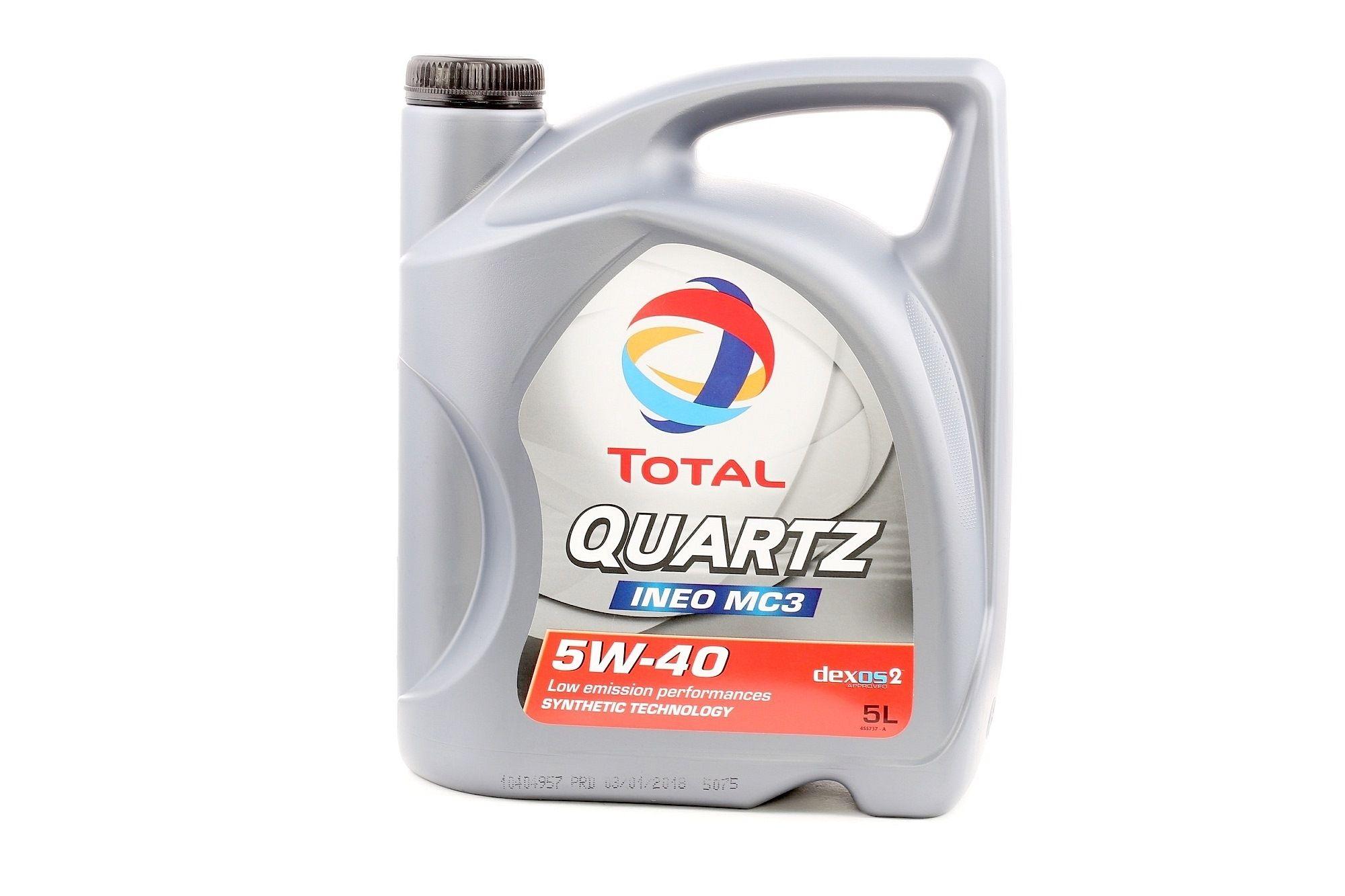 P000322 TOTAL Quartz, INEO MC3 5W-40, 5l, Óleo sintético Óleo do motor 2174777 comprar económica