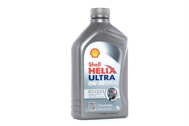 Купете 2015101010K3 SHELL Helix, Ultra ECT C2/C3 0W-30, 1литър, Масло напълно синтетично Двигателно масло 550046305 евтино