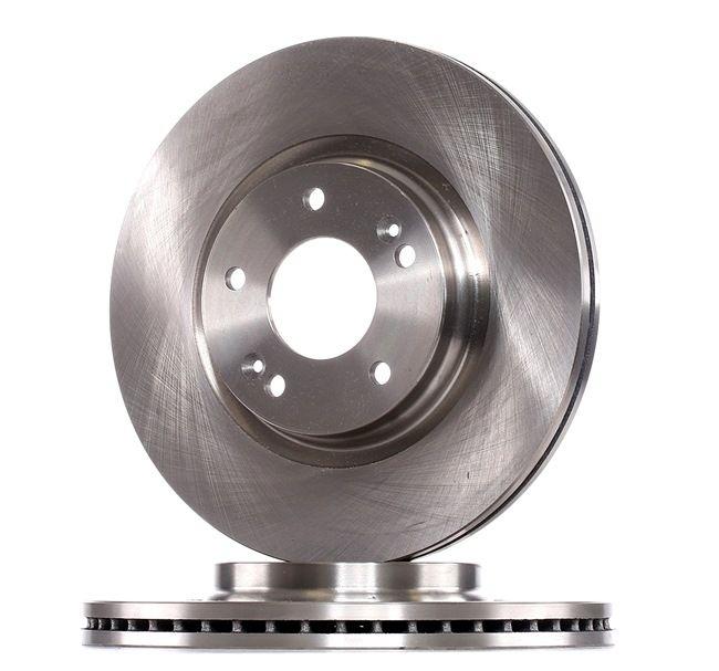 of Holes 5 No 2 Brake Disc front internally ventilated Blue Print ADG043221 Brake Disc Set