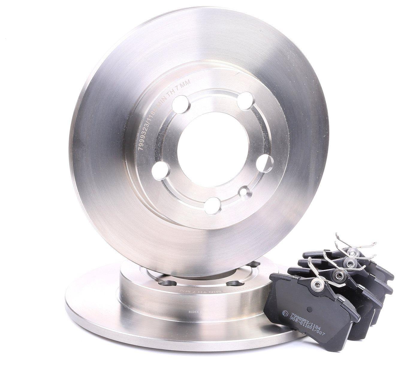 RIDEX: Original Bremsscheiben und Klötze 3405B0288 (Bremsscheibendicke: 9mm)