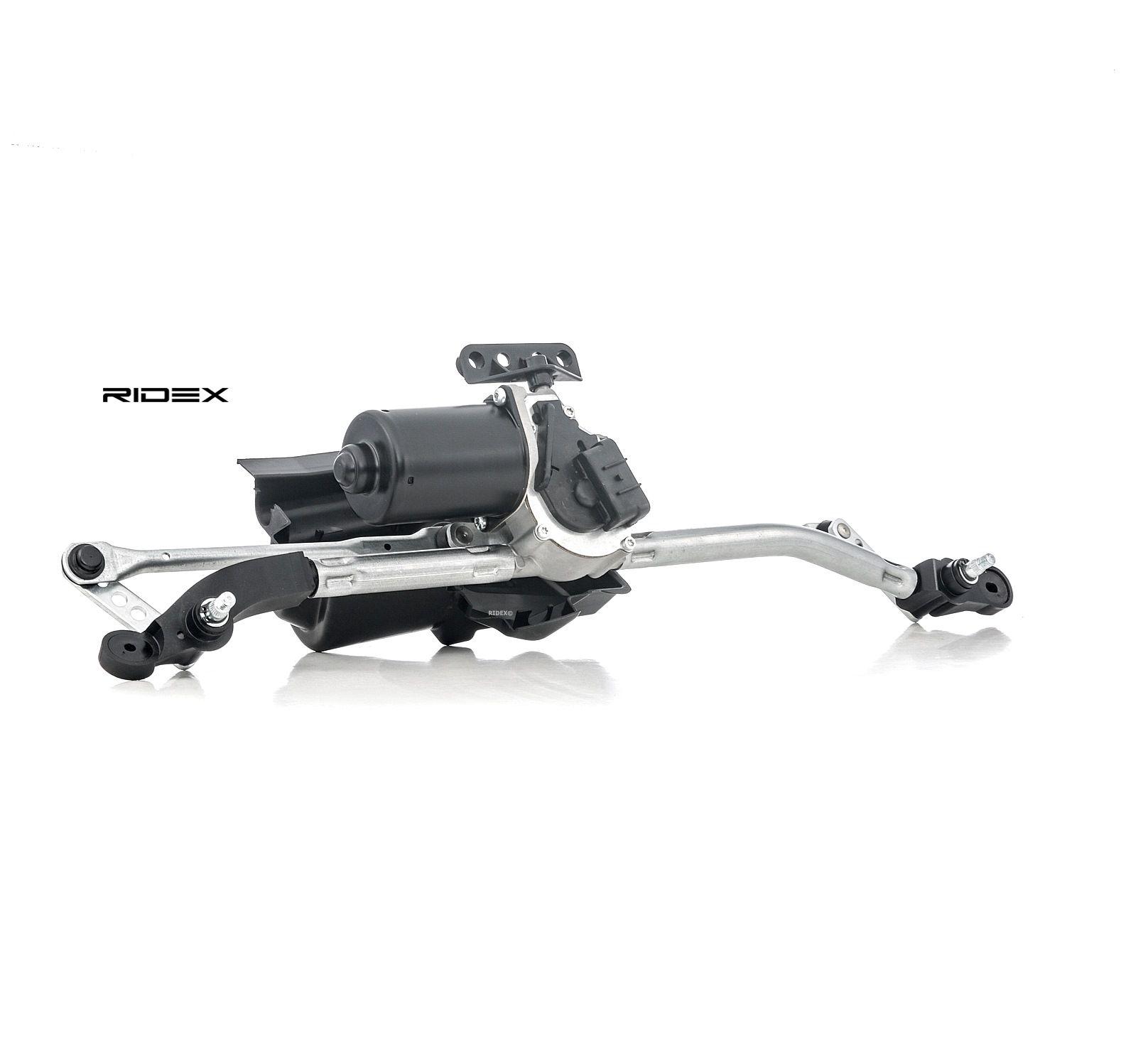 Купете 300W0023 RIDEX за автомобили с ляв волан, отпред, с електродвигател Лостов механизъм на чистачките 300W0023 евтино