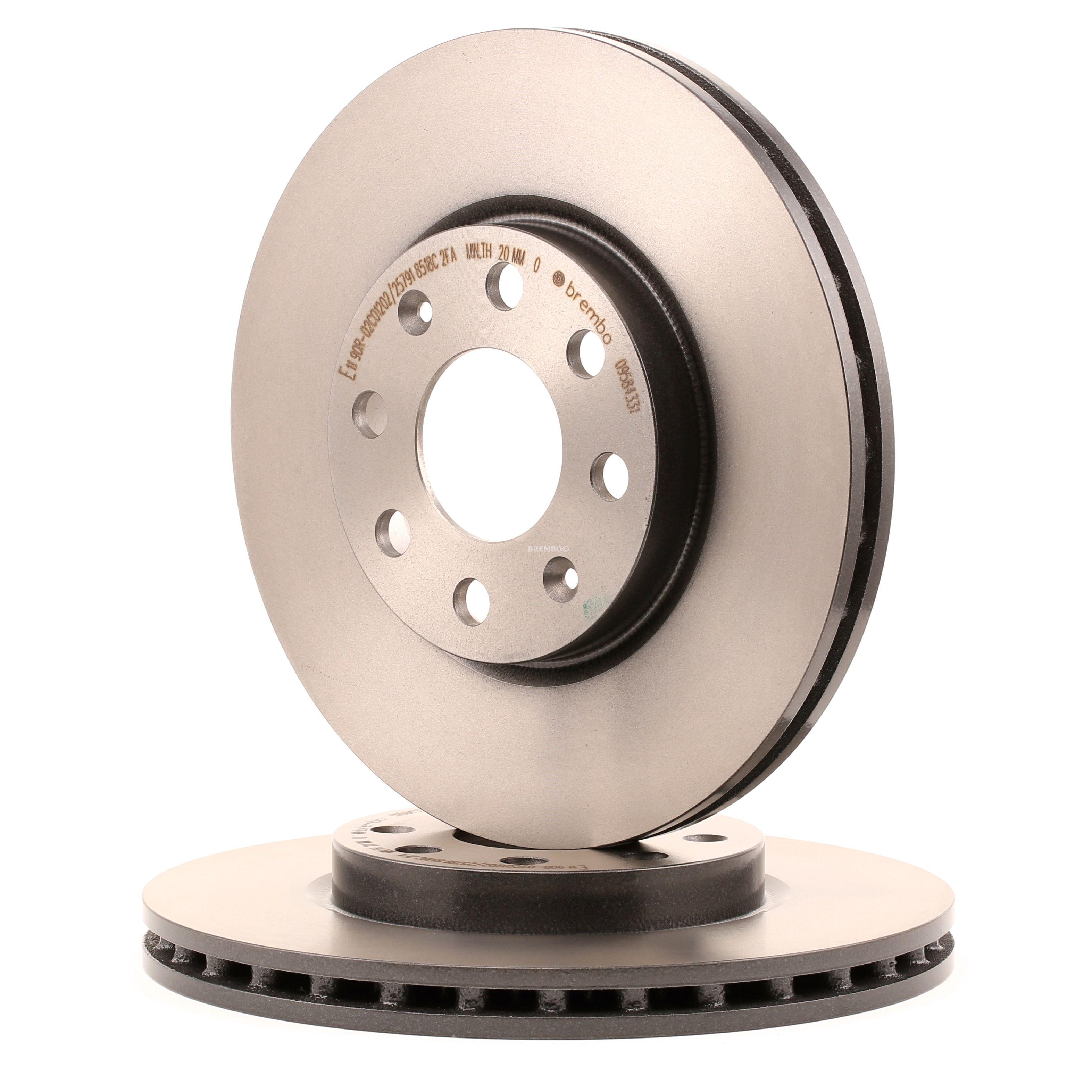 OPEL CORSA 2014 Scheibenbremsen - Original BREMBO 09.5843.31 Ø: 257mm, Lochanzahl: 4, Bremsscheibendicke: 22mm