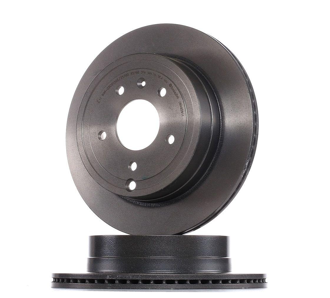 CHEVROLET CAPTIVA 2019 Bremsscheiben - Original BREMBO 09.A629.11 Ø: 303mm, Lochanzahl: 5, Bremsscheibendicke: 20mm