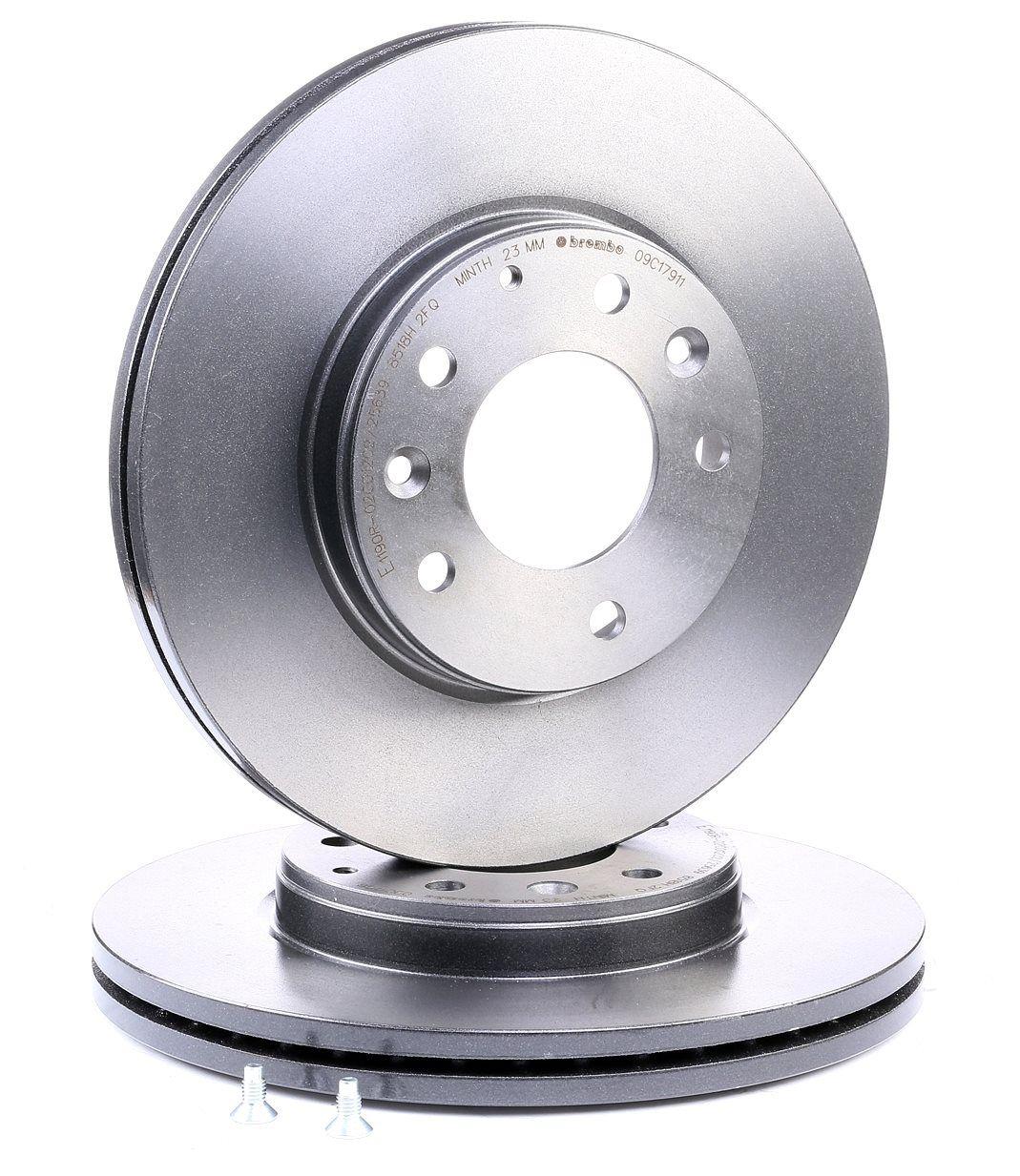 BREMBO: Original Bremsscheibe 09.C179.11 (Ø: 283mm, Lochanzahl: 5, Bremsscheibendicke: 25mm)