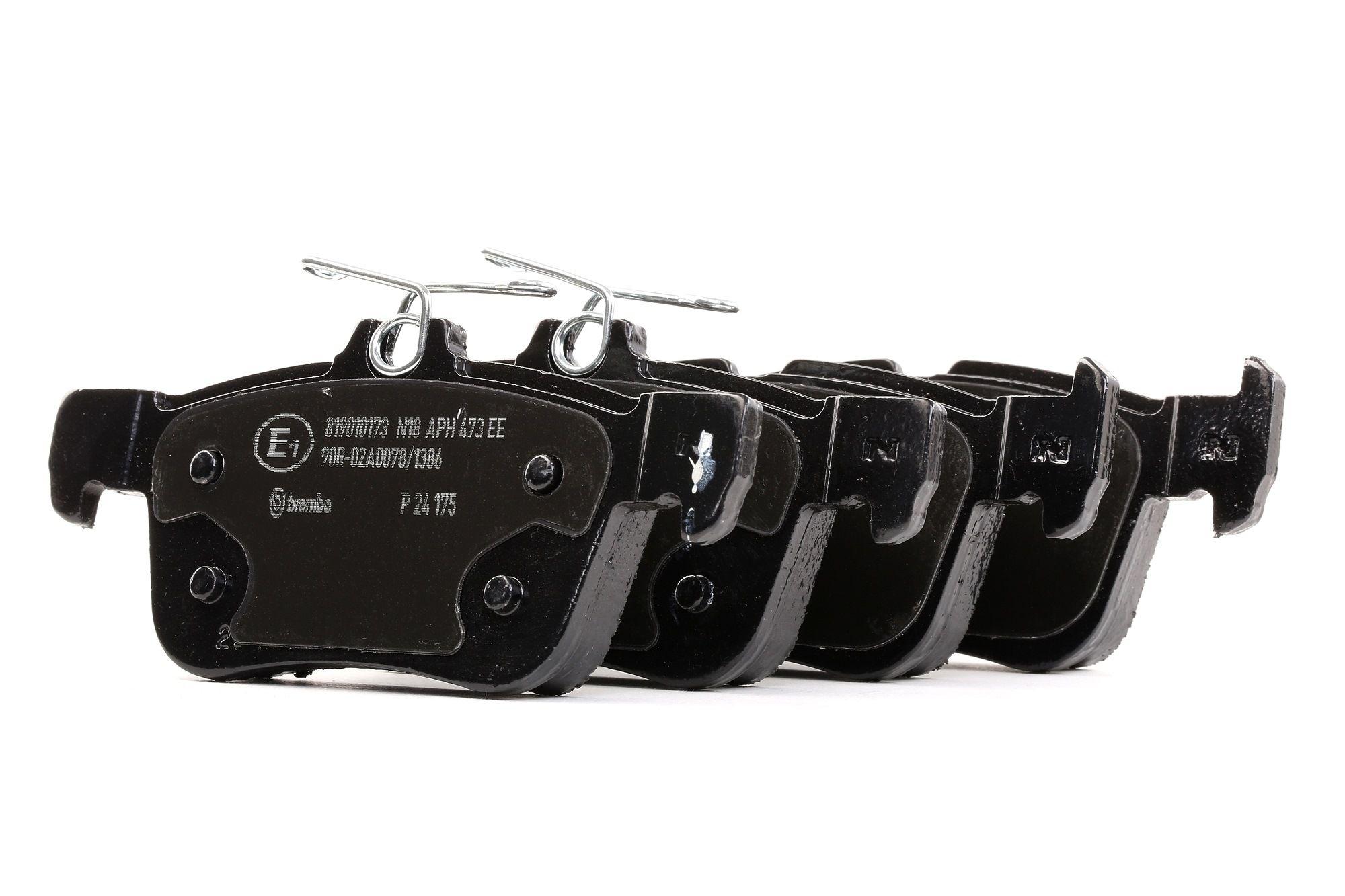 Bremsbelagsatz FORD USA Crown Victoria II (EN114) hinten + vorne 2005 - BREMBO P 24 175 (Höhe 1: 47,9mm, Höhe 2: 53,2mm, Breite: 123,25mm, Dicke/Stärke: 15,9mm)