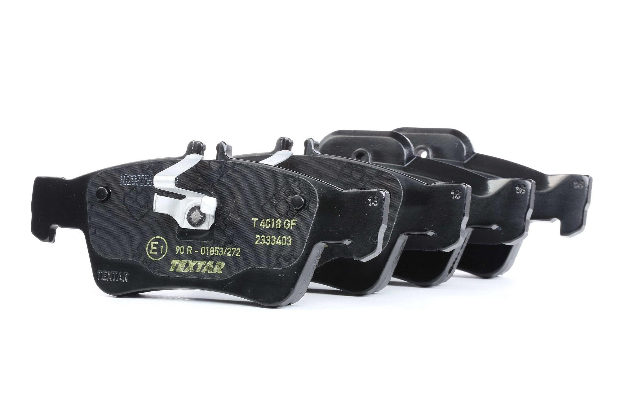 MERCEDES-BENZ CLS 2017 Tuning - Original TEXTAR 2333403 Höhe 1: 57,5mm, Höhe 2: 59,6mm, Breite 1: 140,3mm, Breite 2: 141,5mm, Dicke/Stärke: 16,8mm