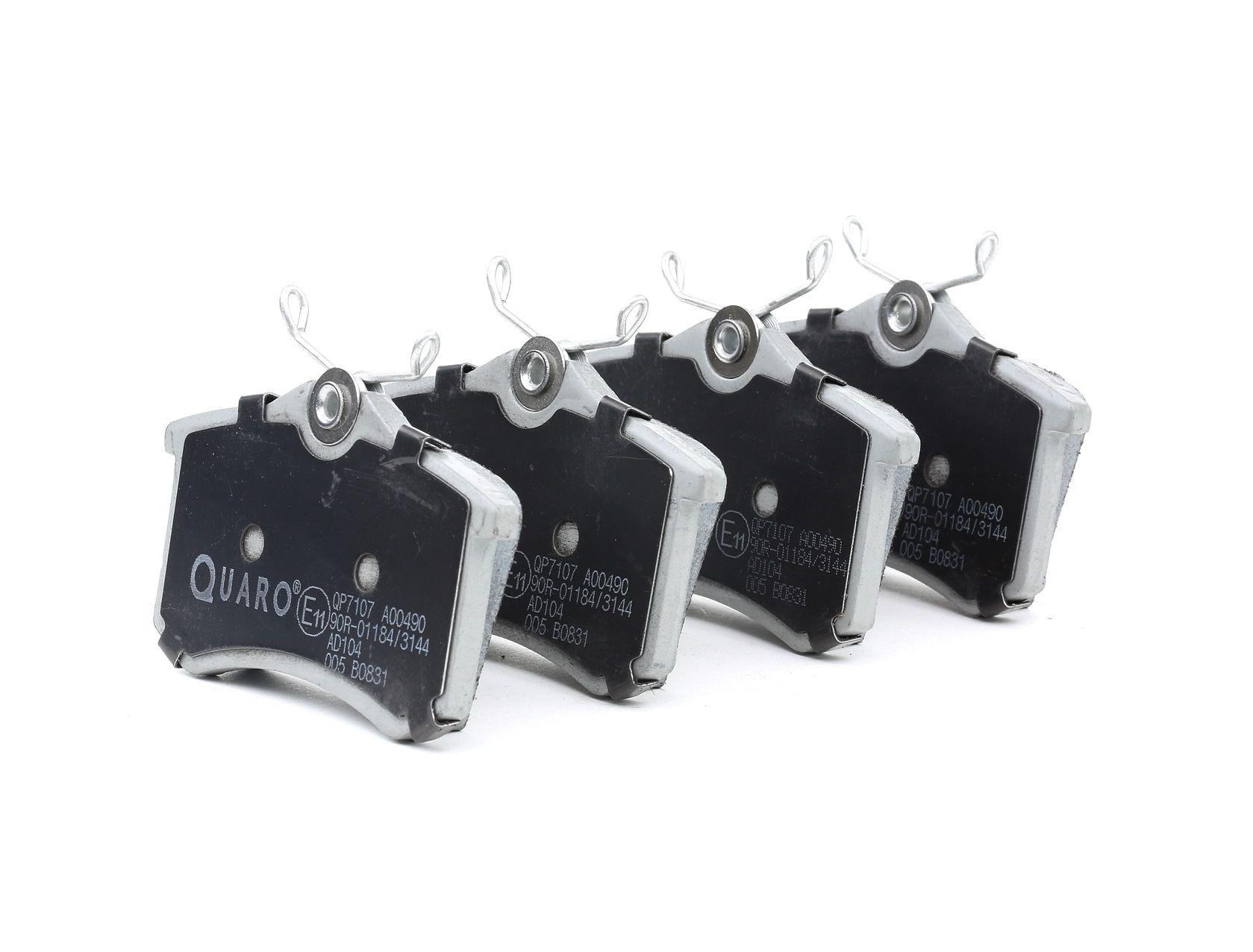 QP7107 QUARO nicht für Verschleißwarnanzeiger vorbereitet Höhe: 53mm, Breite: 87mm, Dicke/Stärke: 15,2mm Bremsbelagsatz, Scheibenbremse QP7107 günstig kaufen