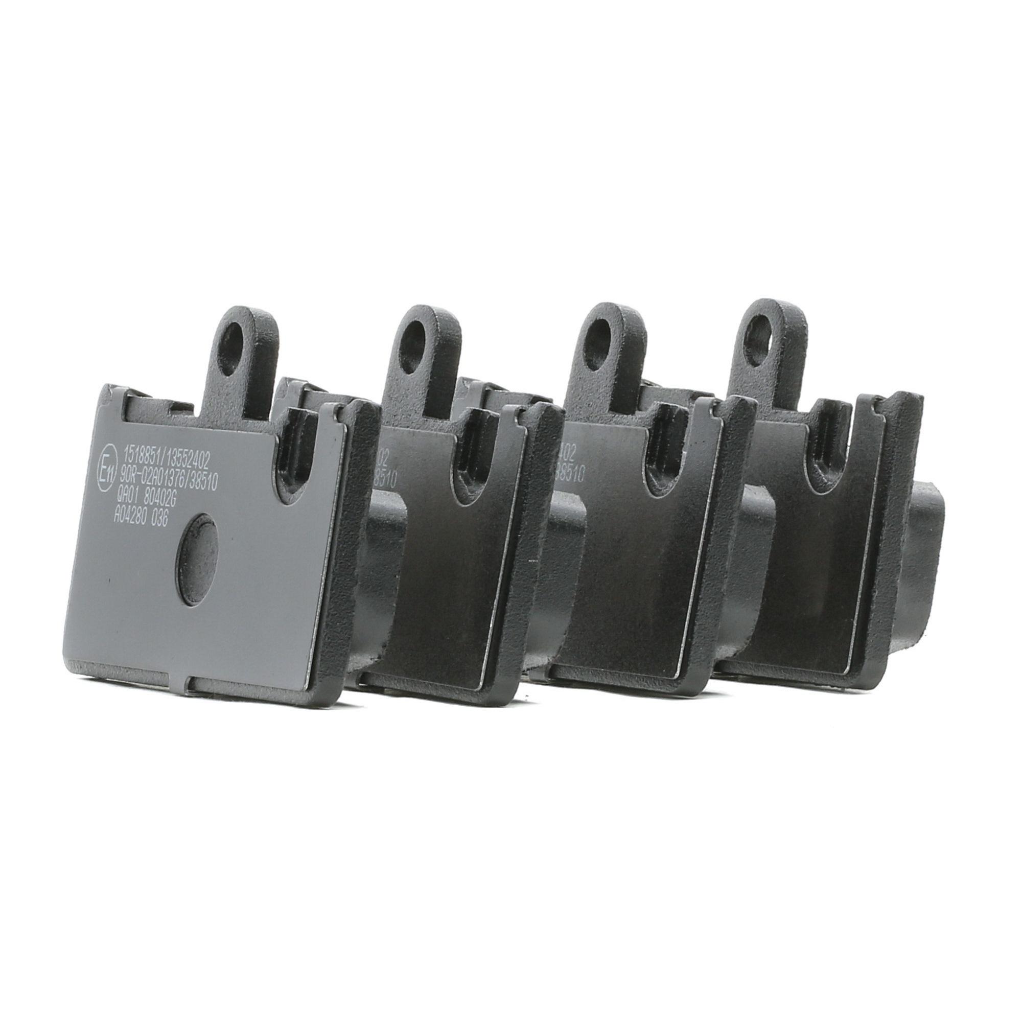LEXUS LS 2021 Bremsklötze - Original RIDEX 402B1237 Höhe: 62.1mm, Breite: 96.1mm, Dicke/Stärke: 15mm