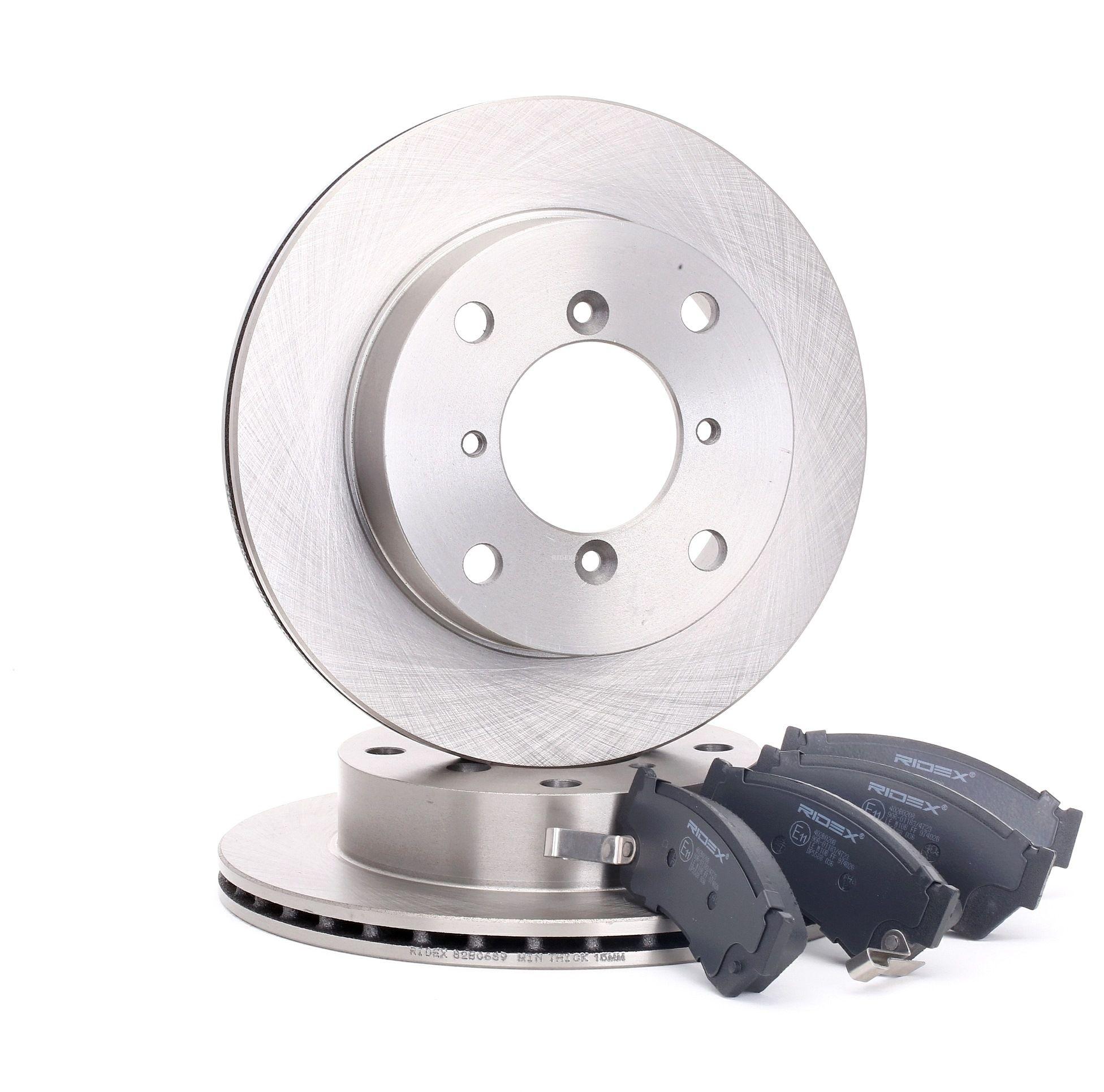 RIDEX: Original Bremsscheiben und Bremsbeläge 3405B0190 (Bremsscheibendicke: 17mm)